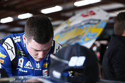 April 27, 2018 - Talladega, Alabama, United States of America - Alex Bowman (88) hangs out in the garage during practice for the GEICO 500 at Talladega Superspeedway in Talladega, Alabama. (Credit Image: © Justin R. Noe Asp Inc/ASP via ZUMA Wire)