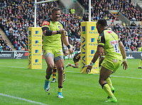 Rugby Union - 2016 / 2017 Aviva Premiership - Semi-Final: Wasps vs. Leicester Tigers<br /> <br /> Peter Betham of Leicester celebrates his try to level the scores at 13 - 13 at Ricoh Arena.<br /> <br /> COLORSPORT/ANDREW COWIE