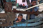 A young boy living in a slum area of Santo Domingo
