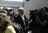 Per Mathias Hogmo coach of FC Rosenborg on Bucuresti airport<br /> 09.08.2005<br /> Photo: Aleksandar Djorovic
