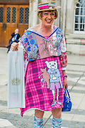 Grayson carries away the certificate in a custom made plastic bag! Turner Prize-winning potter Grayson Perry (as Claire) receives the Freedom of the City of London in recognition of his contribution to the arts - . Guildhall Art Gallery, Guildhall Yard, London, UK 22 Apr 2015