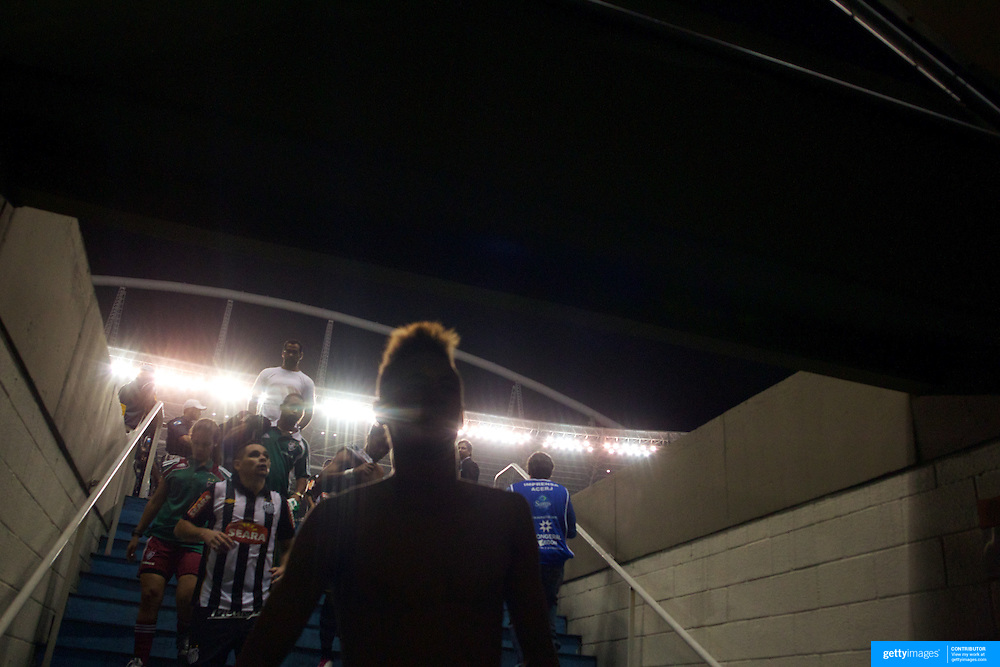 Young Brazilian player Neymar, leaves the field after playing for Santos during the Fluminense V Santos, Futebol Brasileirao  League match in Rio de Janeiro, Santos won the match 3-0. Rio de Janeiro Brazil. 6th October 2010. Photo Tim Clayton.