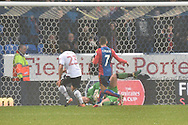 Bolton Wanderers Goalkeeper, Ben Alnwick (13) saves  during the The FA Cup 3rd round match between Bolton Wanderers and Crystal Palace at the Macron Stadium, Bolton, England on 7 January 2017. Photo by Mark Pollitt.