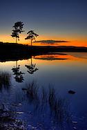 Sunset over Knapps Loch, Kilmacolm.