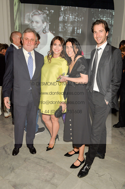 Left to right, VISCOUNT ASTOR, LOHRALEE ASTOR, EMILY SHEFFIELD and the HON.WILLIAM ASTOR at the Alexandra Shulman and Leon Max hosted opening of Vogue 100: A Century of Style at The National Portrait Gallery, London on 9th February 2016.