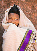 Portrait of a young pilgrim, Lalibela. Ethiopia, Horn of Africa