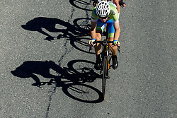 Izidor Penko of Slovenia leading during the Men Under 23 Road Race 179.9km Race from Kufstein to Innsbruck 582m at the 91st UCI Road World Championships 2018 / RR / RWC / on September 28, 2018 in Innsbruck, Austria.  Photo by Vid Ponikvar / Sportida
