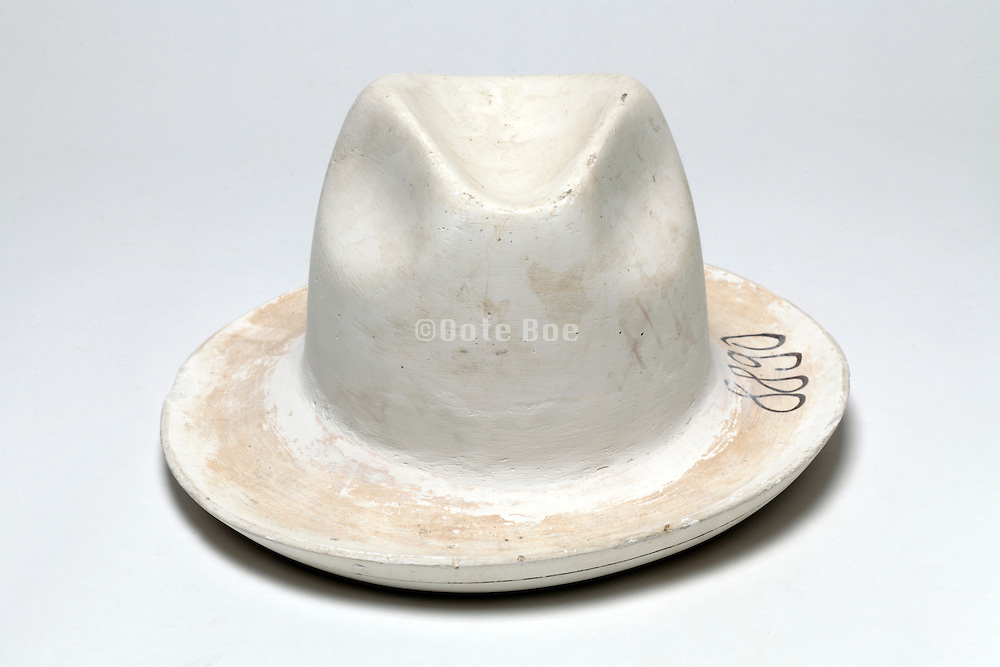 plaster mold from a fedora hat factory