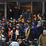 Jerry Seinfeld, (top right), cheers on the New York Mets during the MLB NLCS Playoffs game two, Chicago Cubs vs New York Mets at Citi Field, Queens, New York. USA. 18th October 2015. Photo Tim Clayton