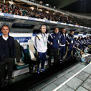 Fenerbahce's coach Ismail Kartal (L) during the Turkish soccer super league match Bursaspor between Fenerbahce at the Ataturk Stadium in Bursa Turkey on Monday, 24 November 2014. Photo by Aykut AKICI/TURKPIX