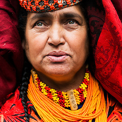 Bumburet, Chitral District,Pakistan.Pic Shows A Kalash woman in the Kalash village in Bumburet making