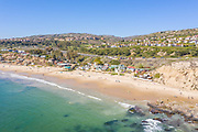 Aerial View of Crystal Cove Cottages on the Beach in Corona del Mar