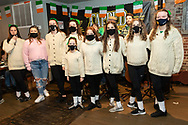 Girls from the Sheahan-Gormley School of Irish Dance perform at Tapped on St. Patrick's Day, March 17, 2021, in Middletown, N.Y.