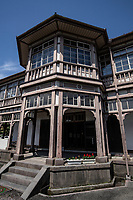 48. The Kyu-Kagoshima Bosekisho Gishikan 旧鹿児島紡績所技師館  or Kagoshima Spinning Engineers House is like its counterparts in other Japanese towns such as the foreigners' houses in Yokohama, Nagasaki or Kobe known as Ijinkan 'Foreigners Residence'. This classic Meiji period building was constructed in 1866 to house British engineers and is one of the earliest Western-style buildings in Japan.