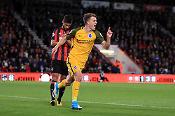 Brighton & Hove Albion's Solly March celebrates scoring his side's first goal of the game during the Premier League match at the Vitality Stadium, Bournemouth.