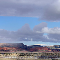 021115       Adron Gardner<br /> <br /> Clouds roll in over the red cliffs near Wingate Wednesday.