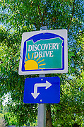 Route sign for the Discovery Drive, Jacksonville, Oregon USA