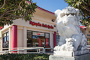 Guardian Lion Marble Statue at The Vietnamese Gate in Little Saigon Westmister California