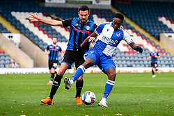 Brandon Hanlan of Bristol Rovers takes on Eoghan O'Connell of Rochdale - Mandatory by-line: Robbie Stephenson/JMP - 31/10/2020 - FOOTBALL - Crown Oil Arena - Rochdale, England - Rochdale v Bristol Rovers - Sky Bet League One