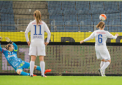 05.10.2016, Merkur Arena, Graz, AUT, CHL, SK Sturm Graz Damen vs FC Zuerich Frauen, Sechzehntelfinale, Hinspiel, im Bild v.l.: Anna Carina Kristler (Graz), Barla Deplazes (Zuerich), Selina Kuster (Zuerich) // during the Round of 32, 1st Leg of the UEFA Womens Champions League between SK Sturm Graz Women and FC Zuerich Women at the Merkur Arena, Graz, Austria on 2016/10/05, EXPA Pictures © 2016, PhotoCredit: EXPA/ Dominik Angerer