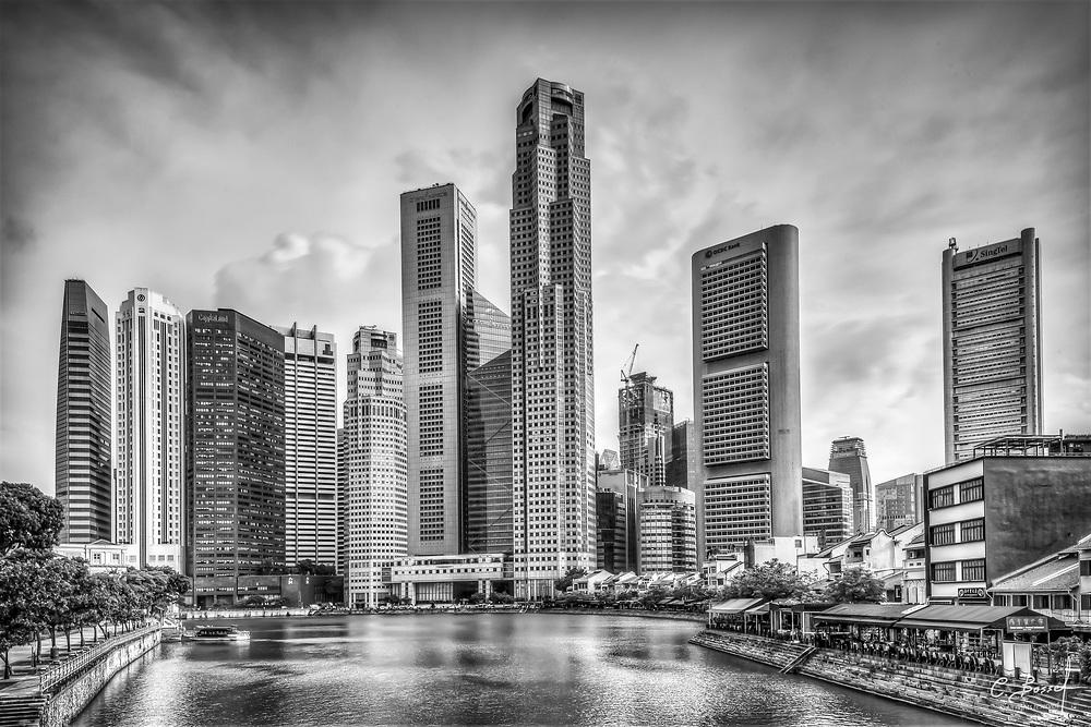 Singapore Skyline Financial district