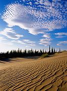 Lenticular clouds above the Great Kobuk Sand Dunes, Kobuk Valley National Park, Alaska.