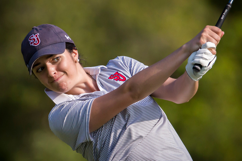 First round action of the BIG EAST women's golf tournament in Okatie, S.C., Friday, April 22, 2016. (Photo/Stephen B. Morton for the BIG EAST)