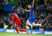 Chelsea's Olivier Giroud in action during the English FA Cup fifth round soccer match between Chelsea and Liverpool at Stanford Bridge Stadium, Wednesday, March 3, 2020, in London, United Kingdom. (ESPA-Images/Image of Sport)