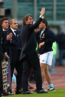 Roma 21/4/2004 Campionato Italiano Serie A <br />Lazio - Roma 1-1 <br />Roberto Mancini (Lazio) protesta con l'arbitro<br />Lazio and Roma are playing again after it was suspended on March 21, 2004, for security reasons.  <br />Foto Andrea Staccioli Graffiti