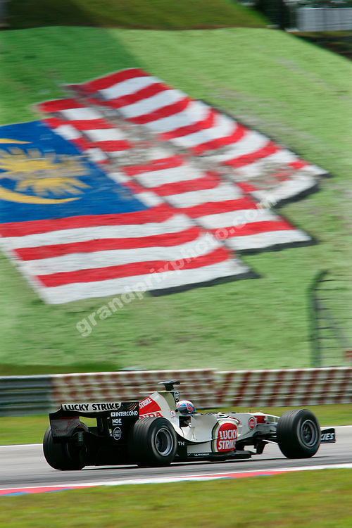 Jenson Button (Honda) during practice for the 2006 Malaysian Grand Prix in Sepang. Photo: Grand Prix Photo