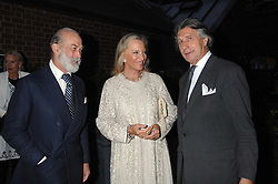 Left to right, PRINCE & PRINCESS MICHAEL OF KENT and ARNAUD BAMBERGER at the annual Cartier Chelsea Flower Show dinner held at the Chelsea Physic Garden, London on 21st May 2007.<br /><br />NON EXCLUSIVE - WORLD RIGHTS