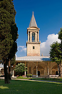 The Tower of Justice (Adalet Kulesi) originally constructed under Mehmed II and then renovated and enlarged by Suleiman I between 1527-1529, Topkapi Palace Istnabul .<br /> If you prefer to buy from our ALAMY PHOTO LIBRARY  Collection visit : https://www.alamy.com/portfolio/paul-williams-funkystock/topkapi-palace-istanbul.html<br /> <br /> Visit our TURKEY PHOTO COLLECTIONS for more photos to download or buy as wall art prints https://funkystock.photoshelter.com/gallery-collection/3f-Pictures-of-Turkey-Turkey-Photos-Images-Fotos/C0000U.hJWkZxAbg
