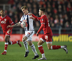James McClean of West Bromwich Albion battles for the ball with Wes Burns of Bristol City   - Mandatory byline: Joe Meredith/JMP - 19/01/2016 - FOOTBALL - Ashton Gate - Bristol, England - Bristol City v West Brom - FA Cup Third Round