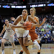 UNCASVILLE, CONNECTICUT- DECEMBER 4: Napheesa Collier #24 of the Connecticut Huskies drives to the basket during the UConn Huskies Vs Texas Longhorns, NCAA Women's Basketball game in the Jimmy V Classic on December 4th, 2016 at the Mohegan Sun Arena, Uncasville, Connecticut. (Photo by Tim Clayton/Corbis via Getty Images)