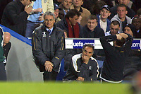 Claudio Ranieri (Chelsea manager) realises its all over. Chelsea v Monaco. Champions league semi final 2nd leg. 5/5/2004. <br /> Photo: Andrew Cowie, Digitalsport<br /> NORWAY ONLY