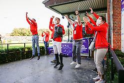 RIESENBECK - FEI Jumping European Championship Riesenbeck 2021<br /> <br /> TEAM Switzerland, Kiss and Cry<br /> Impressionen vom Abreiteplatz<br /> Second Qualifying Competition - Round 2 <br /> Team Final<br /> <br /> Hörstel-Riesenbeck, Reitanlage Riesenbeck International<br /> 03. September 2021<br /> © www.sportfotos-lafrentz.de/Stefan Lafrentz