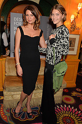 Left to right, GABRIELA PEACOCK and ARIZONA MUSE at the launch of GP Nutrition held at Annabel's, 44 Berkeley Square, London on 26th January 2016.