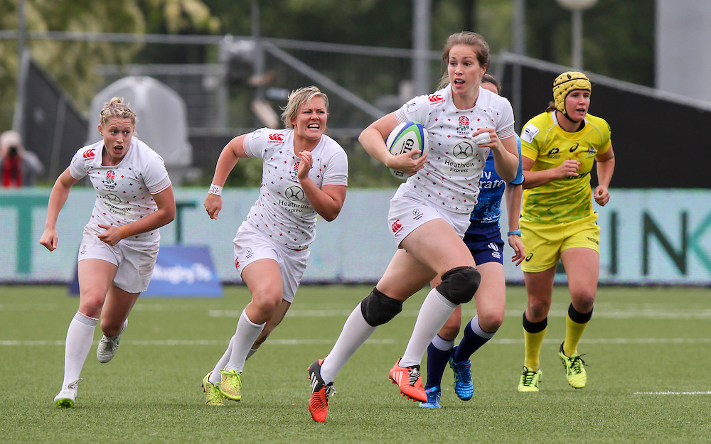 Emily Scarrat in action for England, Women's Sevens World Series - Amsterdam Leg, NRCA, Amsterdam, Netherlands, Day 1 on 22nd May 2015.