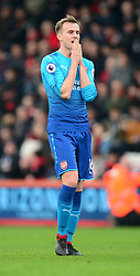 Rob Holding of Arsenal looks dejected.  - Mandatory by-line: Alex James/JMP - 14/01/2018 - FOOTBALL - Vitality Stadium - Bournemouth, England - Bournemouth v Arsenal - Premier League