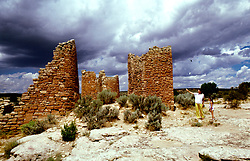 CO: Colorado Mesa Verde National Park, Hovenweep ruins        .Photo Copyright: Lee Foster, lee@fostertravel.com, www.fostertravel.com, (510) 549-2202.Image comesa208