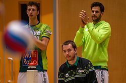 Trainer Tom Buijs of Orion in action during the semi cupfinal between Active Living Orion vs. Amysoft Lycurgus on April 03, 2021 in Saza Topsportshall Doetinchem