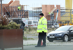 EXCLUSIVE Game of Thrones filming has been delayed due to damage caused to sets by Storm Ophelia. The storm, which has battered Northern Ireland, blew scaffold down and upended the studio security fencing which shielded the building of the new set in Belfast. Security guards were positioned outside the damaged fence with extra scaffolders brought in to secure the new set. It has previously been reported that HBO, the makers of the hit TV show, are spending $15M USD per episode on the final season. It's not yet known what the costs of the delay in filming will be.<br /> <br /> 17 October 2017.<br /> <br /> Please byline: Vantagenews.com