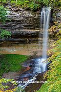 64745-00301 Munising Falls in fall, Pictured Rocks National Lakeshore Alger Co. MI