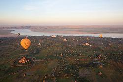 Hot Air Ballooning Over Bagan