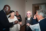 OSWALD BOATENG; MARIKO MORI; ANTONY FAWCETT; ANISH KAPOOR, Gala Opening of RA Now. Royal Academy of Arts,  8 October 2012.