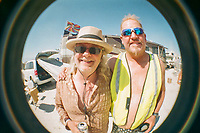 Some friends with a fish eye lens.