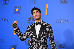 January 6, 2019 - Los Angeles, California, U.S. - Darren Criss in the Press Room during the 76th Annual Golden Globe Awards at The Beverly Hilton Hotel. (Credit Image: © Kevin Sullivan via ZUMA Wire)