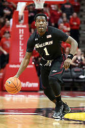 25 February 2015:  Jalen Pendleton  during an NCAA MVC (Missouri Valley Conference) men's basketball game between the Southern Illinois Salukis and the Illinois State Redbirds at Redbird Arena in Normal Illinois