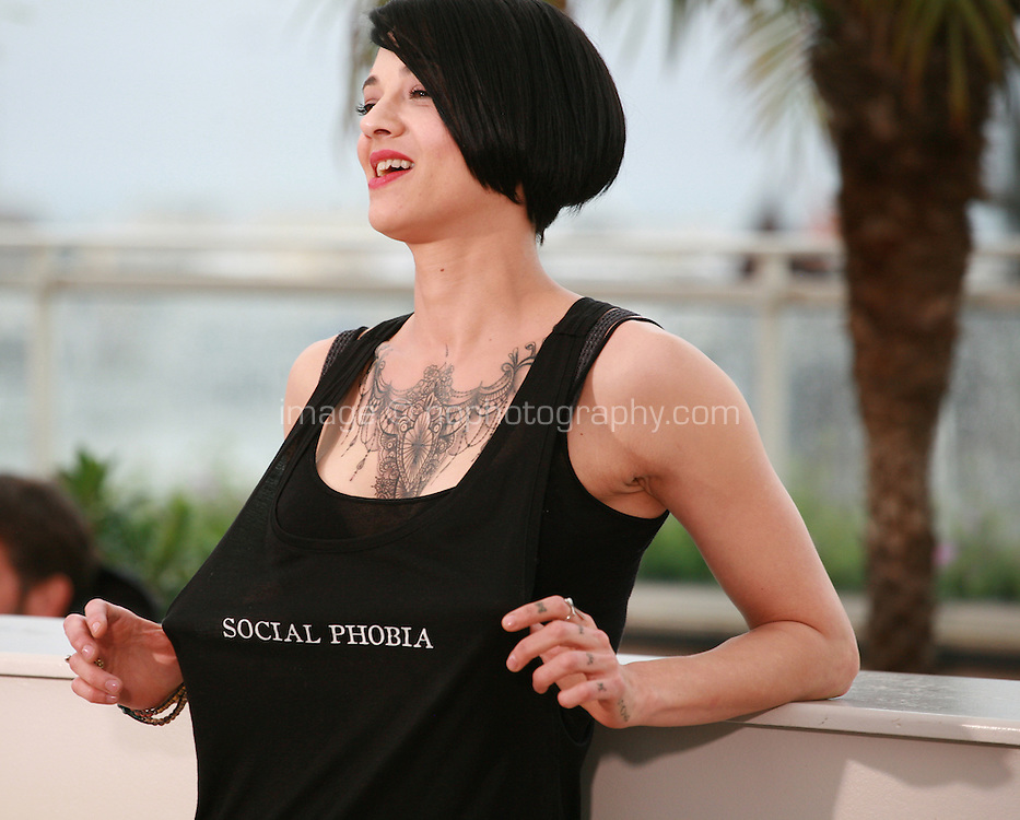 Director Asia Argento at the photo call for the film Misunderstood (Incompresa) at the 67th Cannes Film Festival, Thursday 22nd May 2014, Cannes, France.