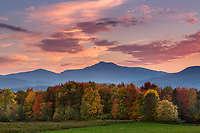 Autumn sunset with views of Camel's Hump in Waterbury Center, VT